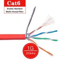 Câble réseau RJ45 Cat6 SFTP, RJ 45, pour routeur d'ordinateur portable, cordon de raccordement Ethernet 10m 20m 30m 50m 100m 305m