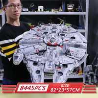 05132 Ultimate Millennium Star Wars Series Falcon modelo bloques de construcción Set Star Ship 75192 juguetes coleccionistas ladrillos niños regalo