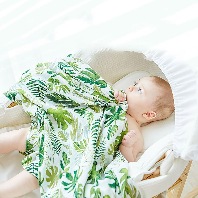 Musselina bebê floral cobertor de bambu algodão