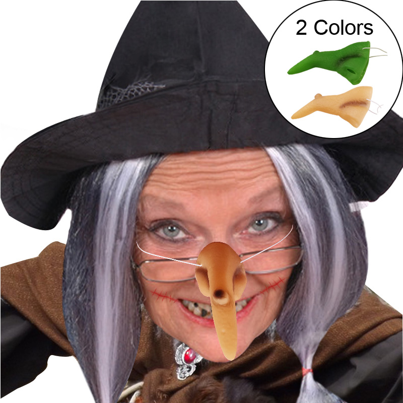 Funny Wicked Witch Nose And Chin Halloween Costume Decoration Gift Supplies HGUK