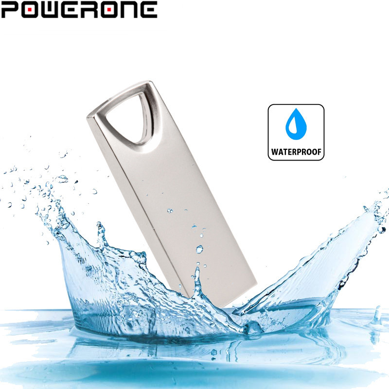 POWERONE Metalen Mini USB Flash Drive 128 GB 64GB 32GB Pendrive Cle USB Flash Stick Pen Drive  4gb16gb 32gb 64gb 128gb USB Stick
