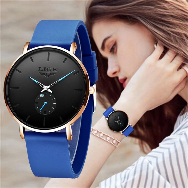 LIGE New Rose Gold Women Watch Business Quartz Watch Ladies Top Brand Luxury Female Wrist Watch Women Girl Clock Relogio Feminin
