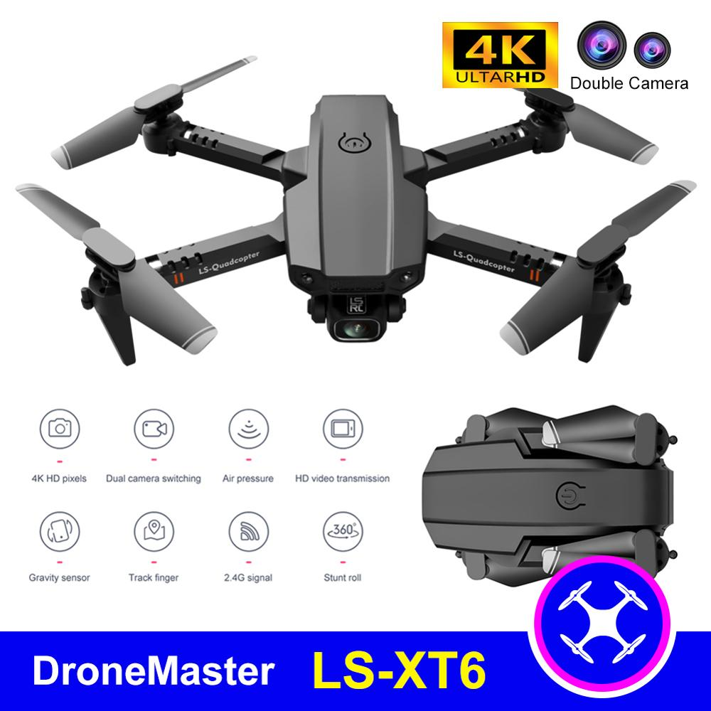 DroneMaster Super Mini XT6 4K Drone Double Camera WiFi Fpv Air Pressure Altitude Hold Foldable Quadcopter RC Drone Kid Toy GIft