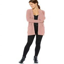 Suéter cárdigan abierto de mezcla de lana para mujer, cárdigan nuevo y elegante de manga larga, chaqueta Casual, abrigo, abrigo, ropa exterior pintada