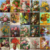HUACAN Pictures By Numbers Flower Acrylic Hand Painted Painting Drawing On Canvas Home Decoration Gift