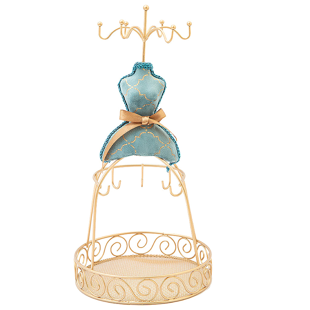 Vintage Jewelry Display Stand Decorative Holder For Necklace Rings Studs Storage - Jewellery Organizer