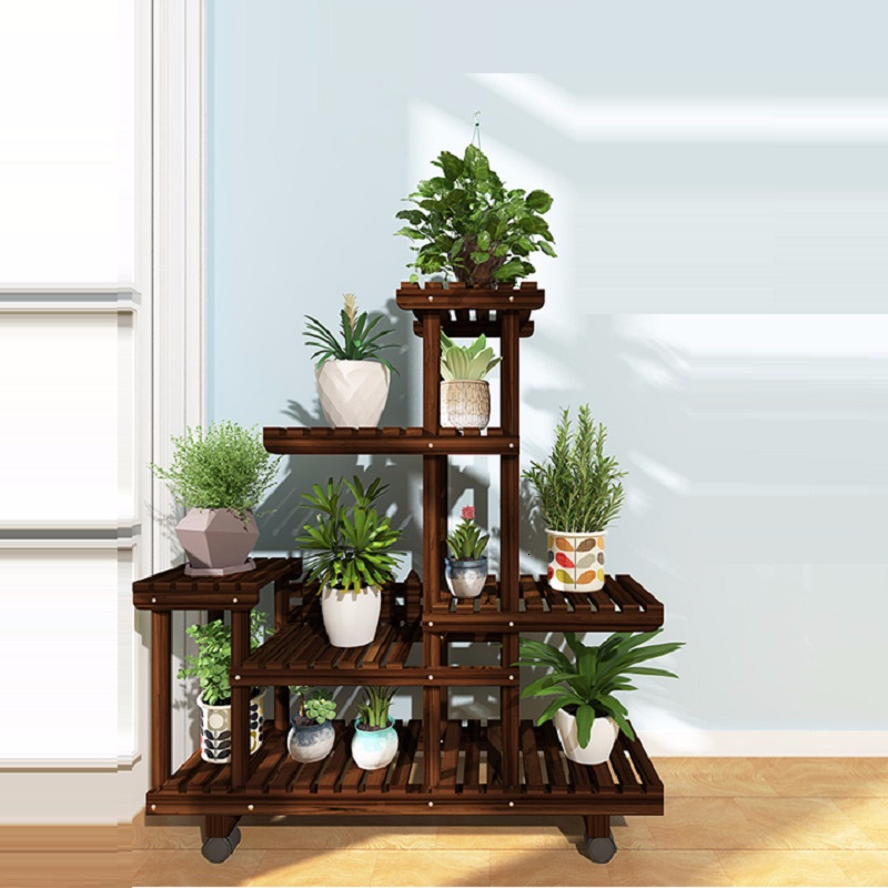 Stojaki Na Kwiaty Table Wood Plantenstandaard Soporte Plantas Interior Balcony Outdoor Flower Stand Rack Dekoration Plant Shelf