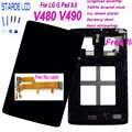 AAA + STARDE LCD para LG G Pad 8,0 V480 V490 pantalla LCD MONTAJE DE digitalizador con pantalla táctil con marco y herramientas gratis y Cable flexible