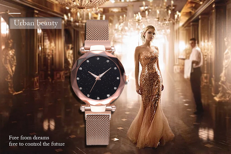H6cee72ed490149a2977def50a7fdd5d73 Luxury Women Watches Ladies Magnetic Starry Sky