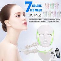 LED Facial Mask Electric LED Face Mask Anti Wrinkle Acne Removal Face Skin Rejuvenation Facial Spa Salon Massager