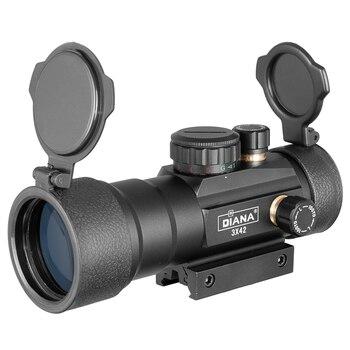 DIANA 3X42 Green Red Dot Sight Scope 2X40 Red Dot 3X44 Tactical Optics Riflescope Fit 11/20mm Rail 1X40 Rifle Sight for Hunting 3