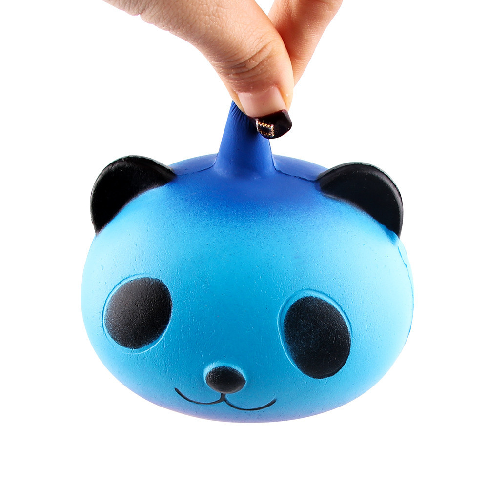 Lovely Galaxy Panda Slow Rising Squeeze Decompression Toys Finger Rehabilitation Training Antistress Toy #B