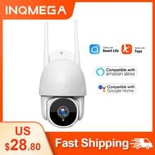 INQMEGA Wifi TUYA камера Smart Cloud 1080P PTZ IP наружная камера с автоматическим отслеживанием Google Home Alexa камера видеонаблюдения CCTV
