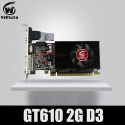Veineda Màn Hình VGA Thẻ GT610 2GB DDR3 700/1000MHz Cho NVIDIA GeForce Máy Tính Chơi Game