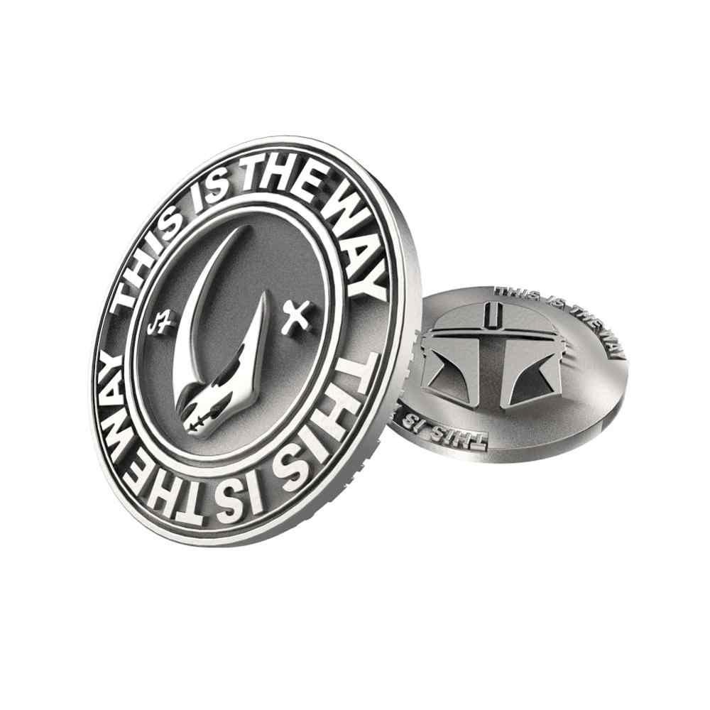 Xcoser Star Wars De Mandalorian Badage Verzamelen Zilveren Munt Bounty Hunter Coin Cosplay Collection Kostuum Props