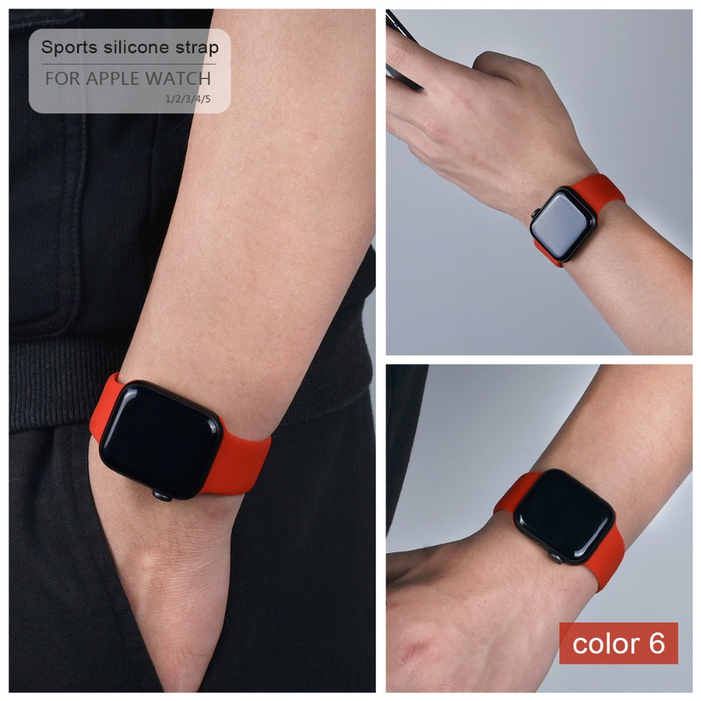 Soft Silicone Band for Apple Watch 112