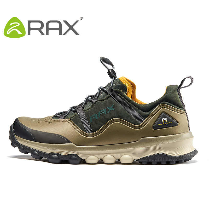 Rax outdoor mens 하이킹 신발 anti-slip wearable sneakers 정통 야외 신발 통기성 댐핑 climing shoes # b2515