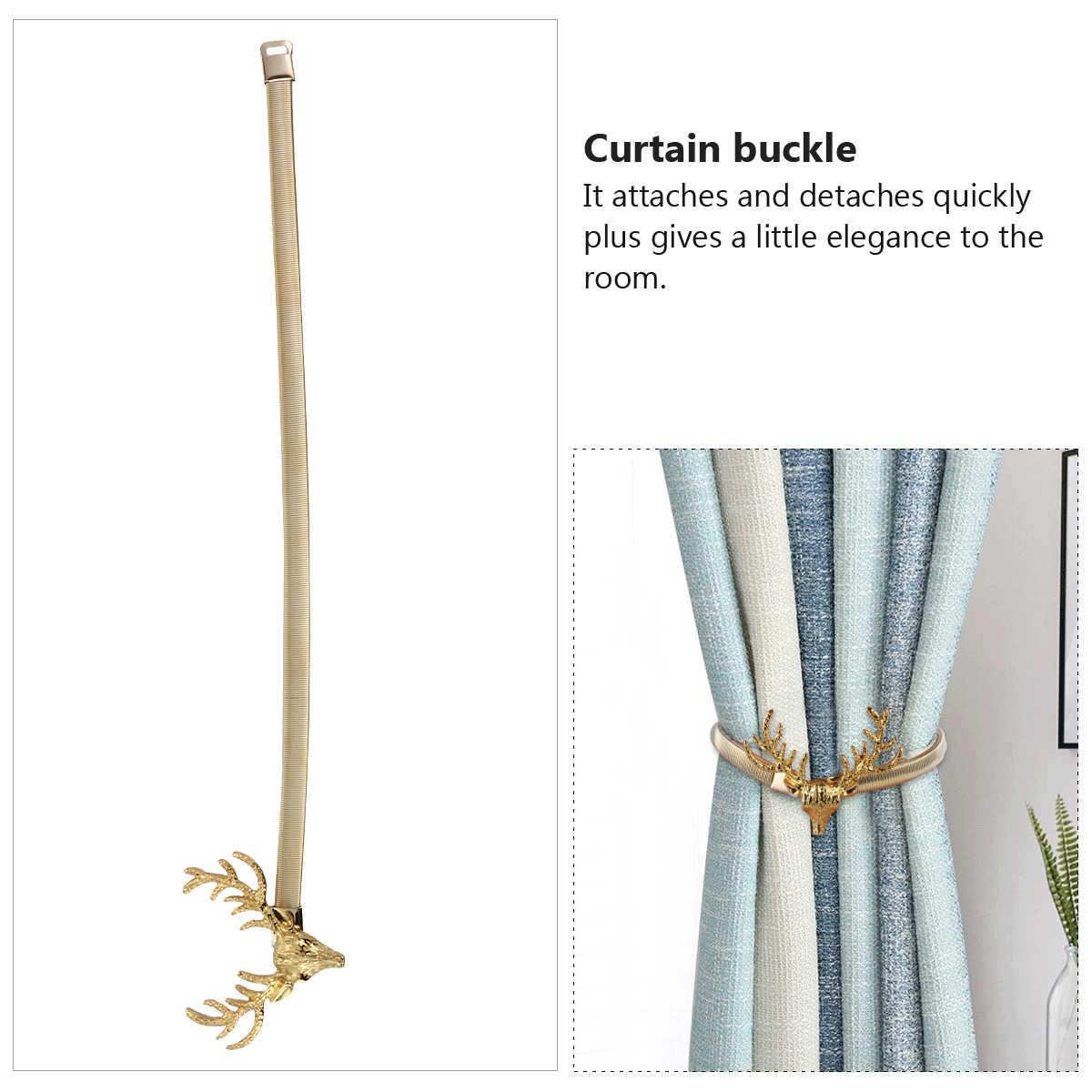 anneau de rideau durable tete de cerf reglable 1 piece pince de rideau porte rideau boucle pour maison noel