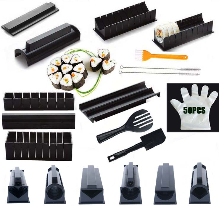 Iyounice Mold Sushi Sushi-Maker-Equipment-Kit Rice-Ball Mould-Making Cake-Roll Japanese title=