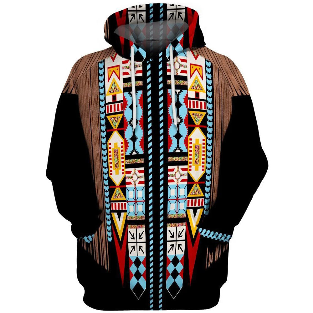 Casual Hoodies Men/Women Native Indian 3D Print One Piece Sweatshirt Hooded Streetwear Hip Hop Pullover Sudadera Hombre/Mujer