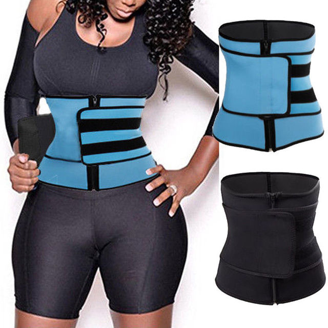 Hot Sale Men Women Tummy Waist Trainer Cincher Sweat Belt Trainer Hot Body Shaper Slim Bodycon Belt Waist Shapewear Plus Size 2
