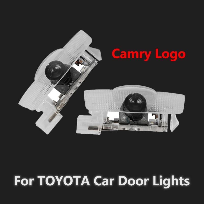 2X For Toyota Camry XV70 XV50 XV40 70 50 40 V70 V50 V40 2007 - 2017 2018 2019 LED Camry Logo Car Door Light Laser Projector Lamp