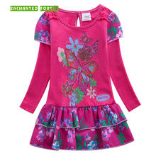 Girls dresses Children's clothes Cotton Cute Floral Pattern kids dresses for girls long sleeve girl princess dress girl clothes
