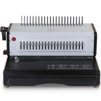 Superfície de metal durável clipe pente vinculativo máquina vinculativo máquina 3883 elétrica máquina de margens ajustáveis 220v 200w|Encadernadora| |  -