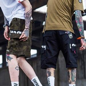 Image 2 - 2020 Hip Hop Cargo court Camouflage hommes Harajuku court joggeurs Streetwear tatique militaire décontracté poche latérale court Camouflage Hipster