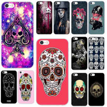 Soft TPU Mobile Phone Accessories Cases for iPhone X XR XS Max 10 7 6 6s 8 Plus 4 4S 5 5S SE 5C Shell Punk Tattoo Skull(China)