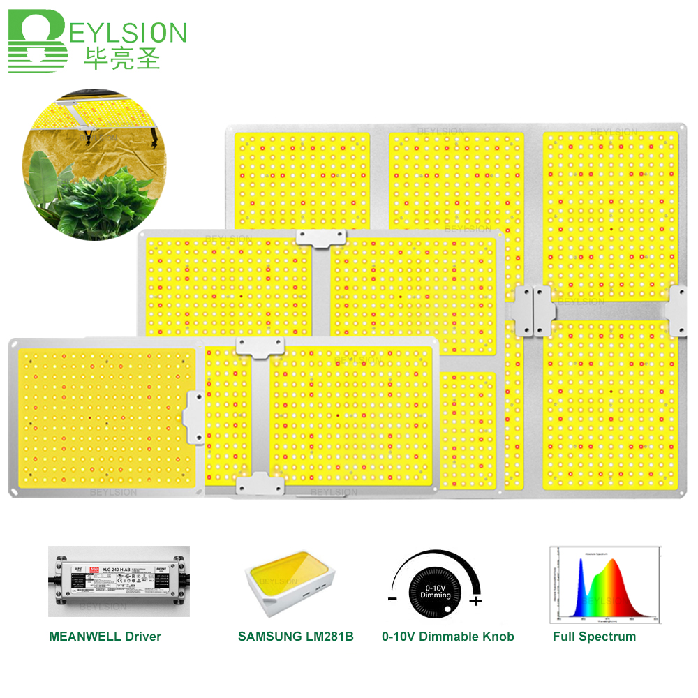 BEYLSION LED Grow Light Quantum Sunlike Full Spectrum Growth Lamp Large light area for Plant Factory Greenhouses Plant Tent Grow