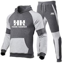 Conjunto de Sudadera con capucha para hombre, ropa deportiva gruesa y cálida, chándal masculino de marca a la moda, 2021