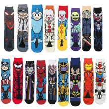 Calf Sock Personality-Socks Marvel Spiderman Print Cosplay Anime Adult Knee-High Women