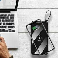 Qi Drahtlose lade für xiaomi iphone 30000mah power bank reise drahtlose externe batterie schnell ladung für Samsung S8 poverbank-in Powerbank aus Handys & Telekommunikation bei