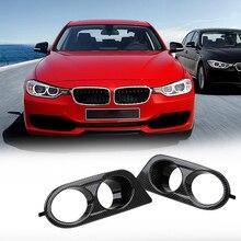 1 זוג רכב ערפל אור מכסה כפול חור אוויר היקפי צינור קדמי פגוש סיבים/שחור פלסטיק סטיילינג המכונית BMW E46 M3 2001 2006
