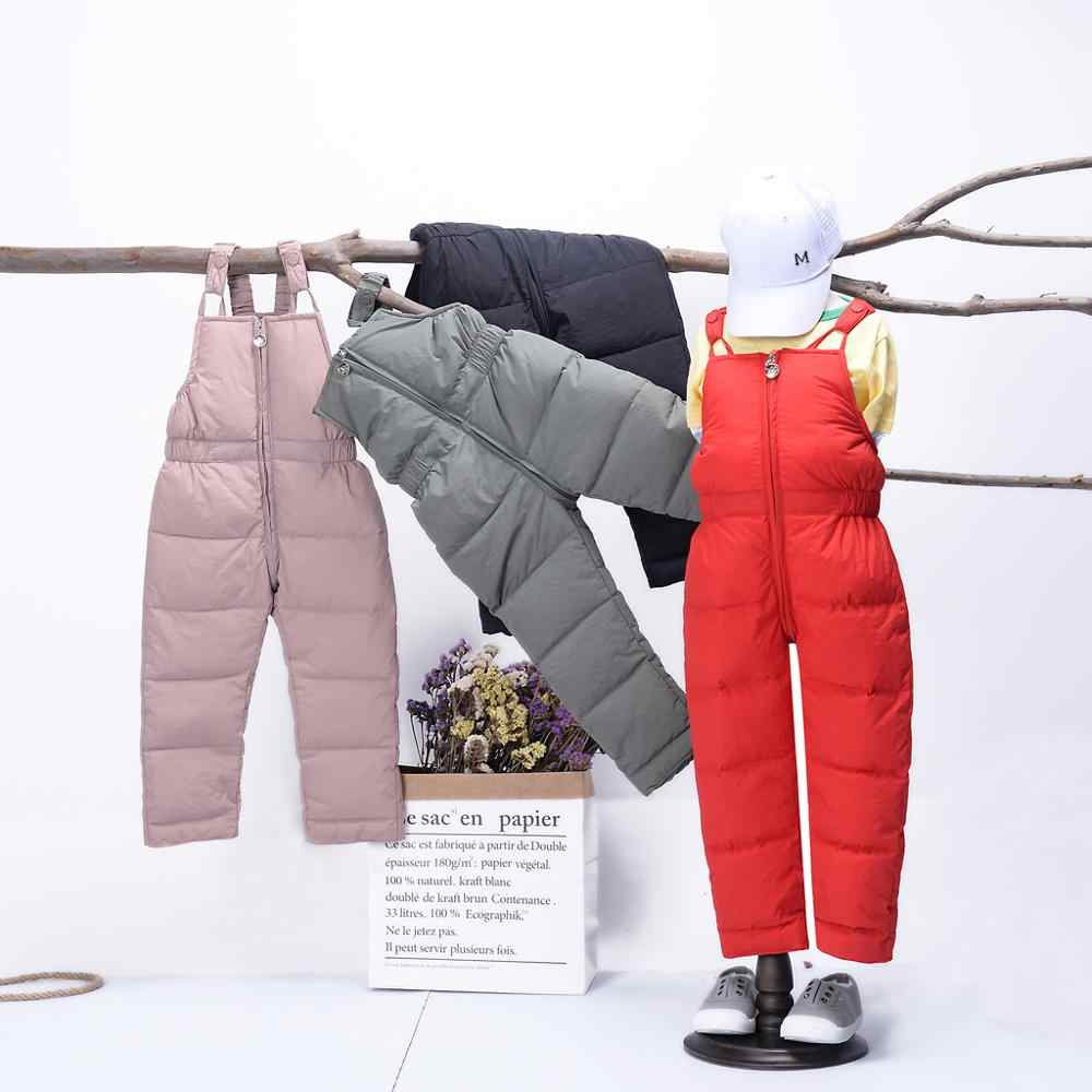 Baby Overalls Kids Jumpsuit Winter Toddler Boys Girls Warm Pants Overall Jumpsuit Winter Trousers Clothes 2020 Salopette Enfant