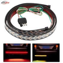 12V Car Flashing Strip Lamp LED Turn Signal Light Rear Bumper Trunk Brake Reverse Warning Dynamic Taillight SUV Auto Accessories
