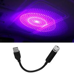 Car Roof Star Night Lights Interior Decorative Light USB LED Projector With Clouds Starry Sky Lighting Effects Violet Blue