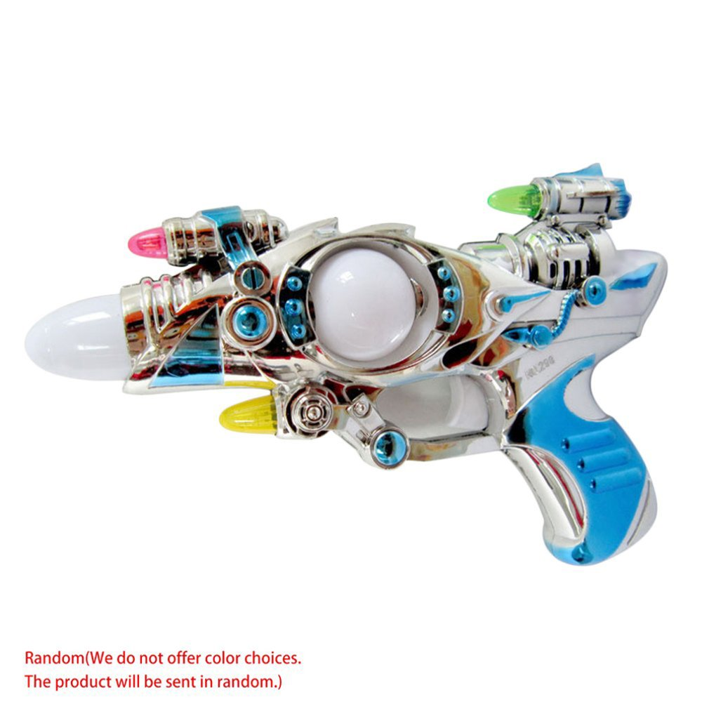 Colorful Beautiful Flash Music Electric Eight-tone Gun Children's Luminous Sound Toy For Children Musical Tool