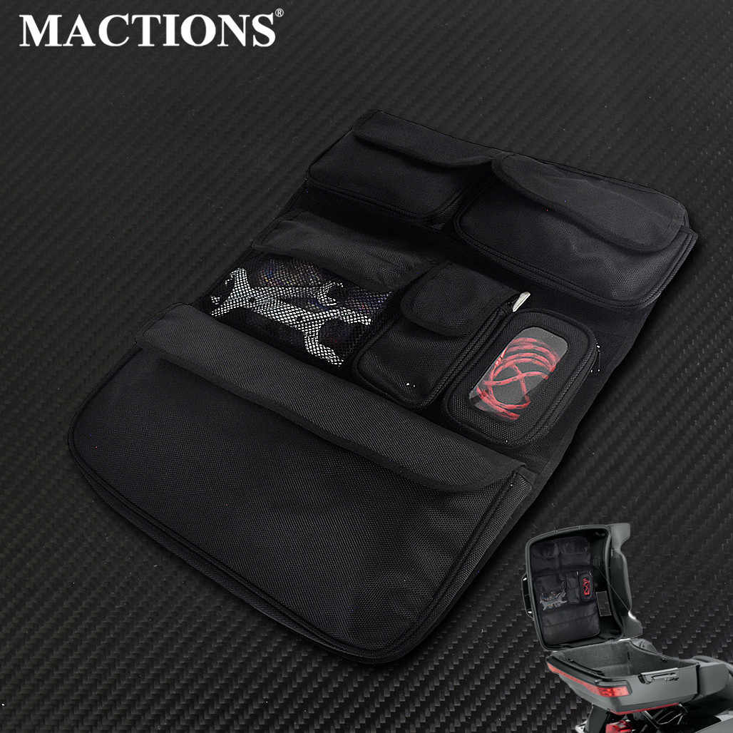 Motorcycle Tour-Pak Lid Fitted Lining with Organizer Storage Pocket bags For Harley Touring 2014-2020 Road King FLHX