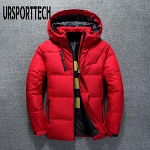 Image 1 - 2019 새로운 고품질 흰색 오리 두꺼운 자켓 남성 코트 스노우 파커 남성 따뜻한 브랜드 의류 겨울 자켓 겉옷