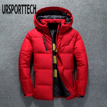 URSPORTTECH High Quality White Duck Thick Down Jacket Men Coat Snow Parkas Male Warm Brand Clothing Winter Down Jacket Outerwear saiqi white duck down jacket for women light camping jacket female hiking coat short outerwear female outdoor brand top clothing
