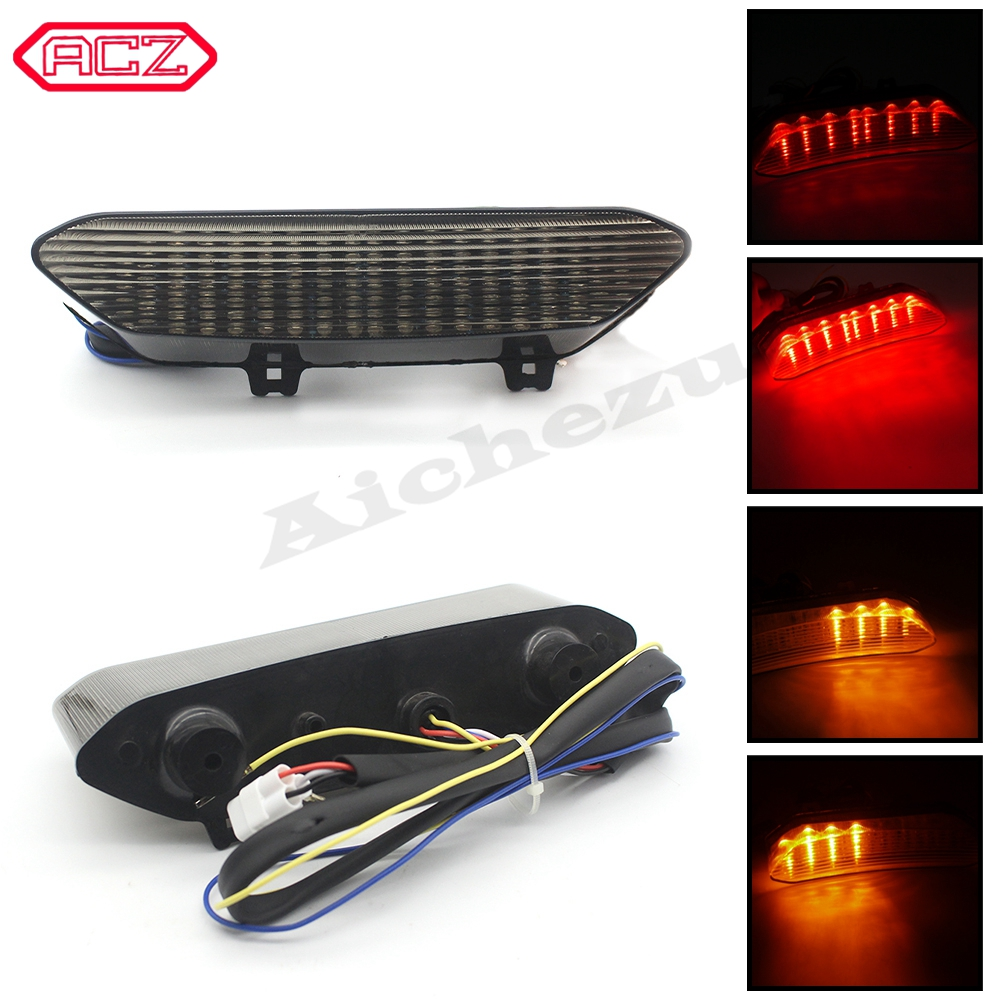 For YAMAHA YZF R1 YZFR1 2002 2003 Motorcycle flashing LED Tail Light Turn signal Integrated Blinker Rear Stop Brake Signal Lamp|  - title=