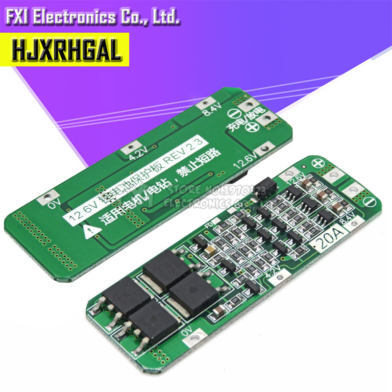 <font><b>3S</b></font> 20A Li-ion Lithium Battery 18650 Charger Protection <font><b>Board</b></font> PCB BMS 12.6V Cell Charging Protecting Module image