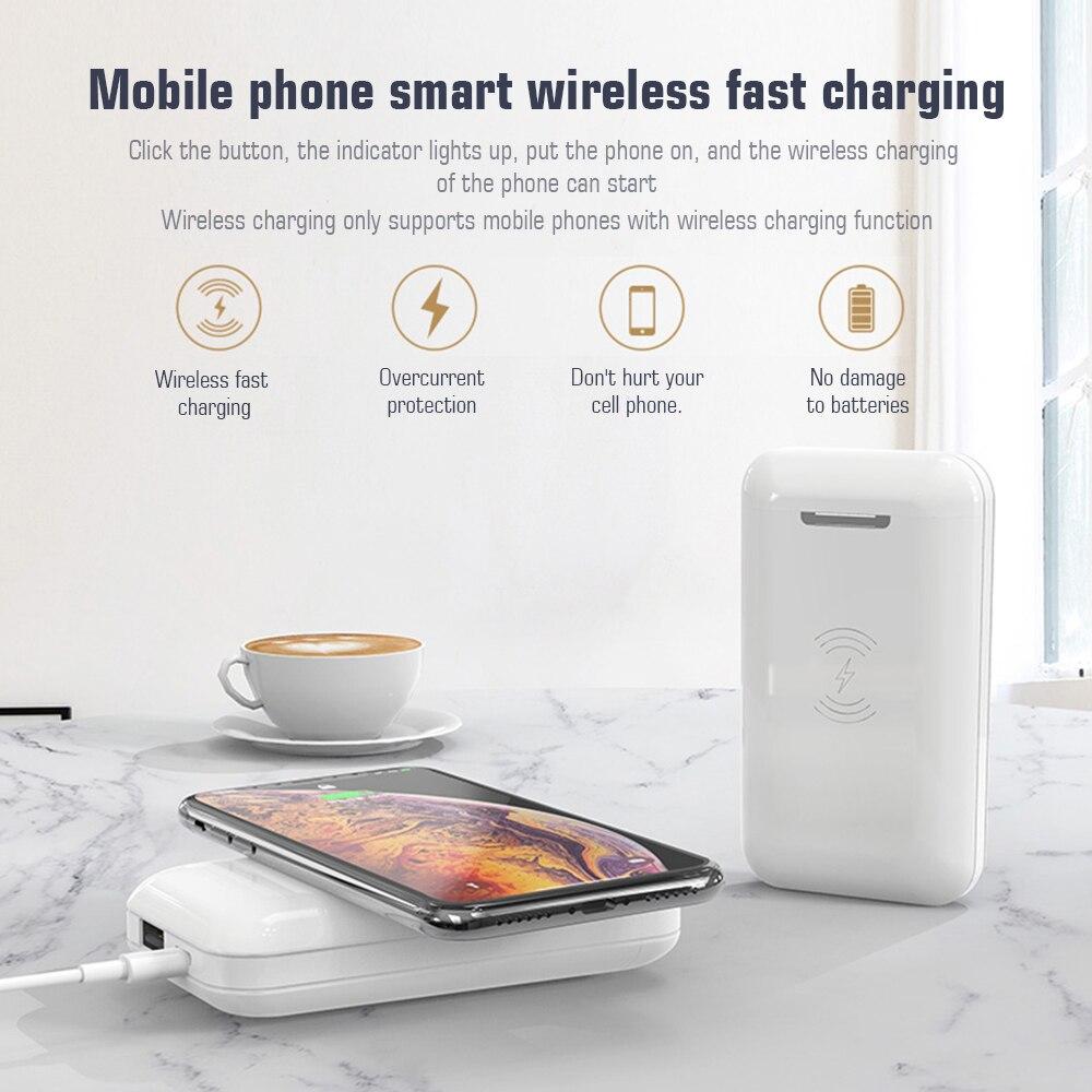 DealöIdiskk Earphone-Support Power-Bank Wireless Charging-Headset Bluetooth with Mic TWS Half-In-Ear├