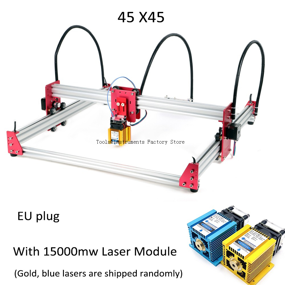 New 15W Laser Engraving Machine 45*45cm 500mw 2500mw 5500mw 15000mw Wood Router DIY Mini GRBL Laser Stainless Engraving Machine