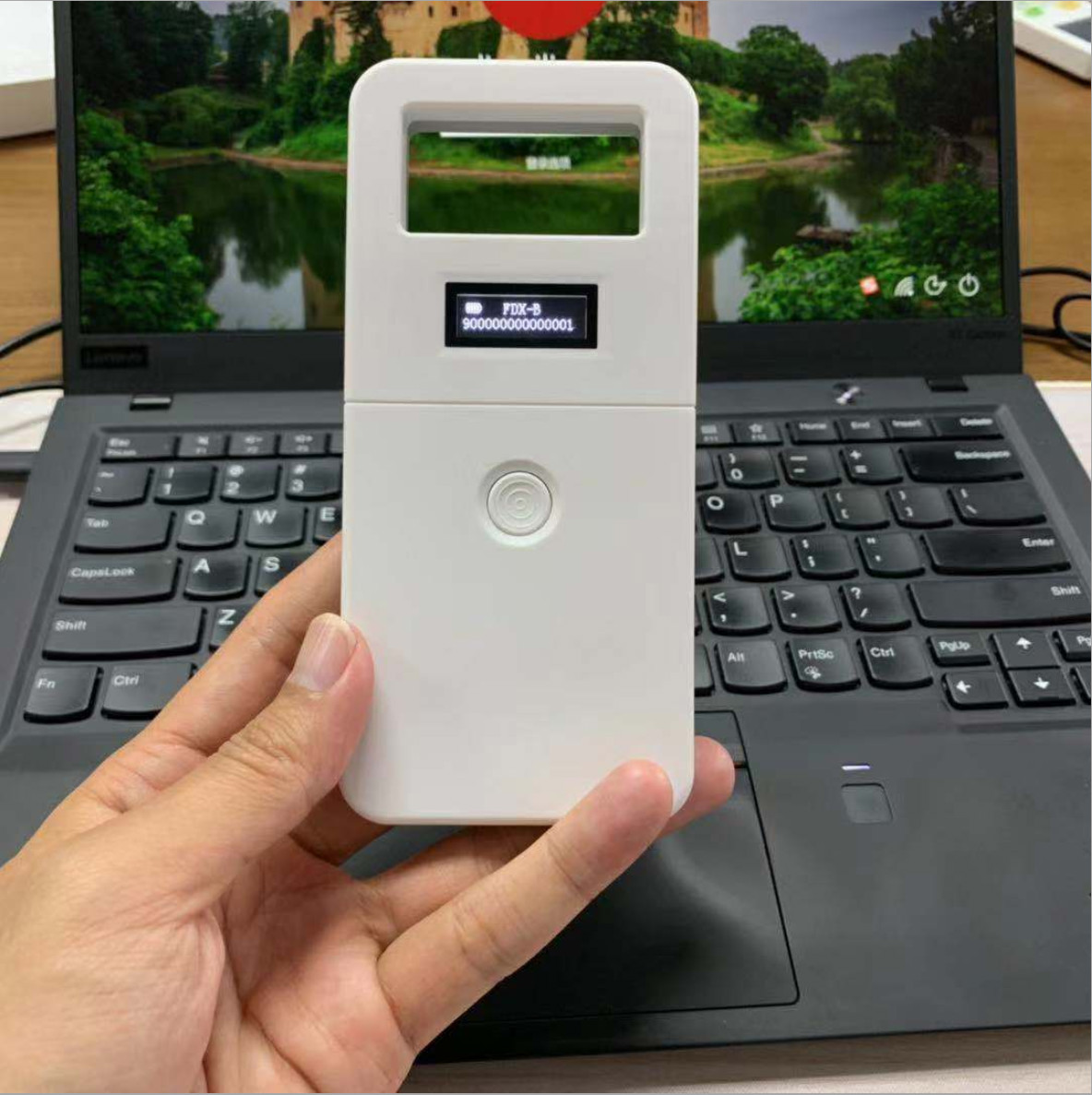 FDX-B Pet Microchip Scanner Animal Chip RFID Id Tag Reader Dog Handheld Microchip Scanner For Dog Cats Horse ISO Pet Animal