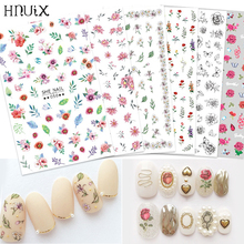 HNUIX Newest 3d nail art sticker Flowers Motifs  Nails Art manicure decal decorations design nail sticker for nail beauty tips op com opcom v1 99 with real pic18f458 ftdi op com obd2 auto diagnostic tool for opel gm opcom can bus v1 7 can be flash update