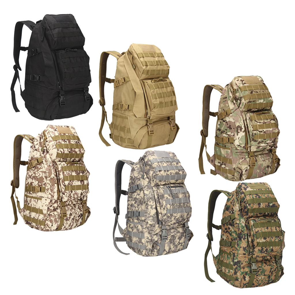 36-55L Oxford Cloth Outdoor Backpack Rucksack Molle Backpack Water Resistant Bug Out Bag Outdoor Sports Rucksack Camping