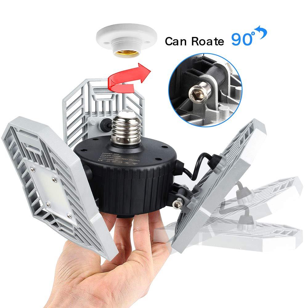 Led Deformable Lamp 60W Garage Light E27 LED SMD 2835 Radar Home Lighting High Intensity Parking Warehouse Industrial